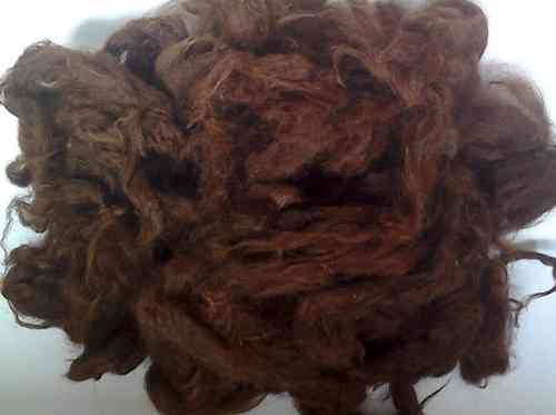 Alpaca Huacaya Loose Fibre Chocolate Brown Undyed 50g