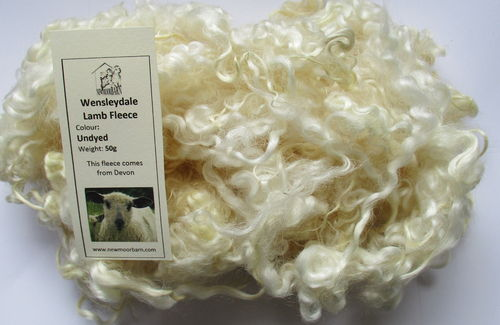 Wensleydale Lamb Fleece Loose Undyed 50g