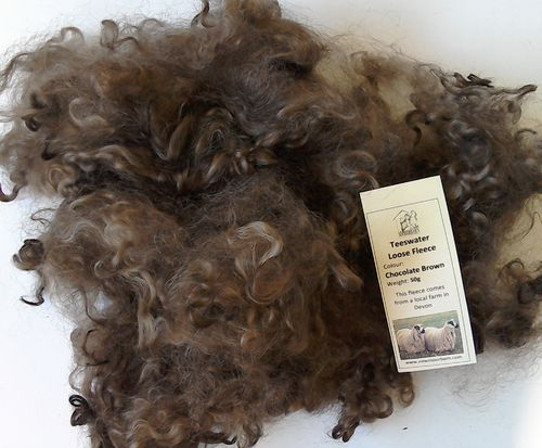 50g Teeswater Fleece in Chocolate Brown