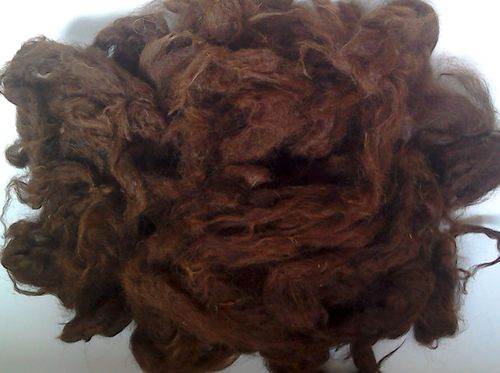 Alpaca Huacaya Loose Fibre Chocolate Brown Undyed 100g
