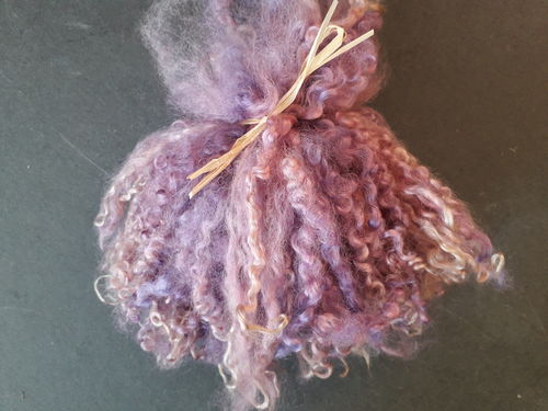 50g Medium Wensleydale Locks in Purple Shades